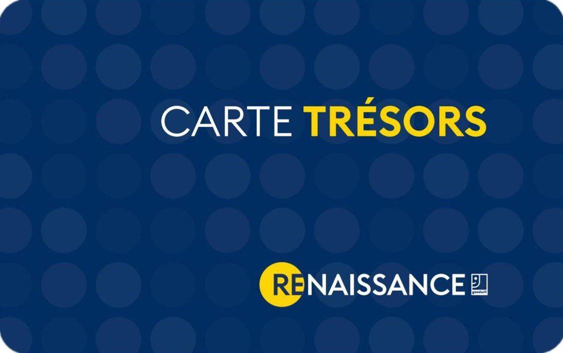Carte Trésors Renaissance Programme Privilège